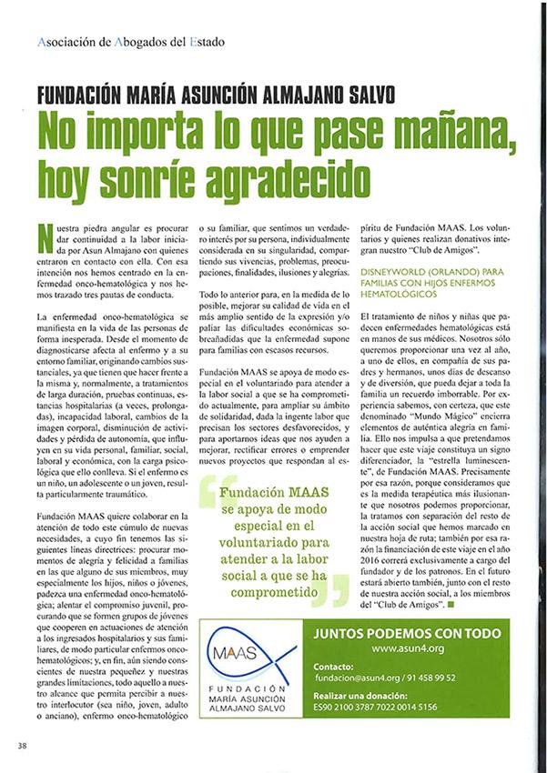 revista AdelE (artículo Fundación MAAS)